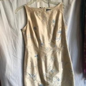 Ann Taylor 100% Silk, embroidered dress